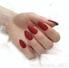 nails - 70 Gorgeous Red Nail Art Designs For Stylish Women Page 70 of 70 Chic Hostess Red Matte Nails, Red Acrylic Nails, Red Nail Art, Matte Almond Nails, Black Nail, Burgundy Nails, Pink Nail, Dark Nails, Nail Polish