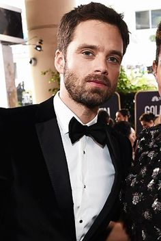 Sebastian Stan attends The 75th Annual Golden Globe Awards at The Beverly Hilton Hotel on January 7, 2018.