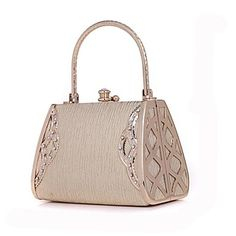 New Fashion Diamonds Striped Leather Gold Evening Bags Diamante Wedding Party Bags Women Ladies Rhinestone Handbag Purse HOT Party Bags, Fashion Handbags, Evening Bags, Crystal Rhinestone, Purses, Fashion Ideas, Fashion Quotes, Fashion Outfits, Hijab Fashion