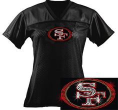 SF 49ers Ladies BLING Jersey
