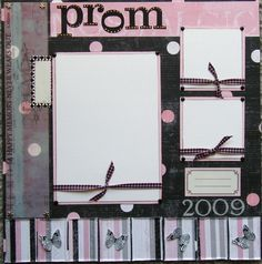 12x12 scrapbook layouts | 12x12 Prom single page scrapbook layout by ntvimage on Etsy