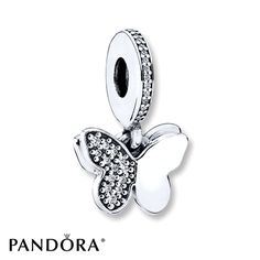 PANDORA Charm Fluttering Butterflies Sterling Silver #bagsandpurses