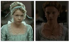 "This costume was seen in ""Becoming Jane"" and in ""Northanger Abbey.""  #JaneAusten #Regency #NorthangerAbbey #BecomingJane #AnnaMaxwellMartin #CassandraAusten"