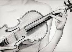Resultado de imagen para violin dibujo a lapiz  musica  Pinterest