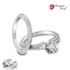 Anillo de oro Blanco 14Kt SKU: WG1429982A, Diamante Round 0.44 quilates. Color-H, Claridad VS2 Laboratorio-GIA-DGC-ANT,  SKU Diamante: 13490, Precio: $35,086.17 pesos M.N *Consulte términos y condiciones.  Churumbela de oro con diamantes 14kt SKU: WG1429982B Precio: $24,756.60 pesos M.N -20% = $19,805.28 *Consulte términos y condiciones.
