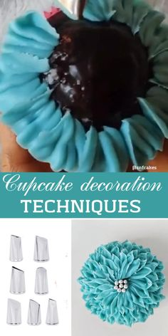 Cupcake Decorating Tips, Cake Decorating Designs, Cake Decorating Piping, Cake Decorating For Beginners, Cake Decorating Techniques, Cake Designs, Cookie Decorating, Buttercream Flowers Tutorial, Fondant Tutorial