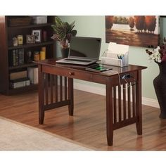 Shop for Atlantic Furniture Mission Desk Walnut Wood with Drawer and USB Charging Station. Get free shipping at Overstock.com - Your Online Furniture Outlet Store! Get 5% in rewards with Club O! - 19347783