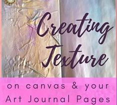 Ideas, art tips and inspiration for art journal techniques on using texture in your art journals using tissue paper, masking tape, art stencils, modelling/texture paste and adding salt to watercolour - Kerrymay. Sketch Journal, Art Journal Pages, Art Journals, Birthday Gifts For Teens, Teen Birthday, Types Of Journals, Art Journal Inspiration, Journal Ideas, Journal Writing Prompts