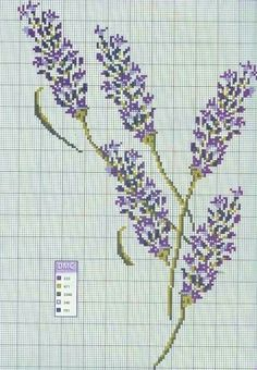 cross-stitch lavender