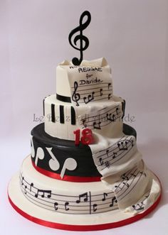 Torte a tema | Le Delizie di Amerilde, Party & Cake Design.Courtney Dill this is awesome! you should make this for me for my wedding accept with guitars on it!! ;}