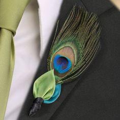 Amazon.com: Lillian Rose BT234 Peacock Boutonniere: Home & Kitchen