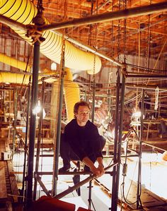 Bradley Whitford in the rafters above the set of The West Wing!!