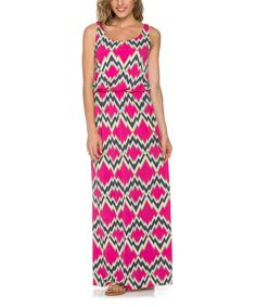 Another great find on #zulily! Fuchsia Zigzag Maxi Dress #zulilyfinds
