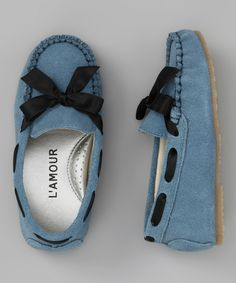 Blue Bow Moccasin by L'Amour Shoes #zulily #zulilyfinds
