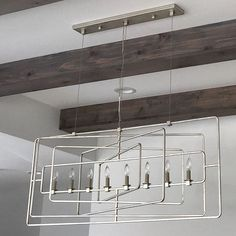 Metro rectangular chandelier design by currey company pinterest metro rectangular chandelier currey company aloadofball Images