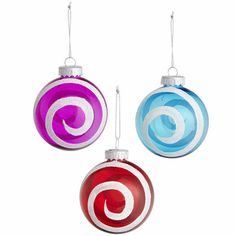 Christmas Ornaments : Peppermint Swirl Ornaments - Pier1.com $3.95
