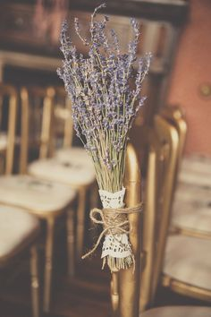 lavender ceremony decor - Read more on One Fab Day: http://onefabday.com/castle-oliver-wedding-by-chemistry-photography/