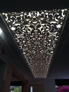 Luxury 42 CNC false ceiling design with LED 2018 - CareDecor Gypsum Ceiling Design, House Ceiling Design, Ceiling Light Design, Ceiling Decor, House Design, Ceiling Lights, Decorating Blogs, Interior Decorating, Interior Design