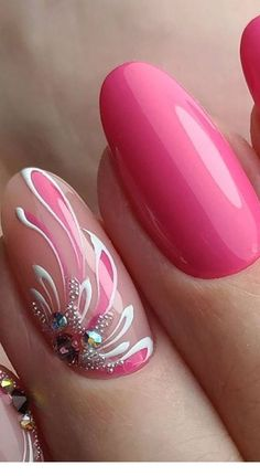 Oh so pretty, too! Oh so pretty, too! Related posts: Pretty & Easy Gel Nail Designs for Copying in Trendy Gel Nails Designs Inspira 50 Pretty Nails Glitter Ombre Easy 2019 I'd do a different shape but these are pretty. Nails Yellow, Pink Nail Art, Pink Nails, Fancy Nails, Cute Nails, Pretty Nails, Hair And Nails, My Nails, Bride Nails