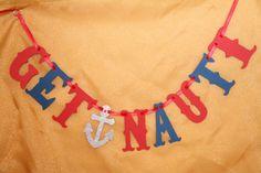 Get Nauti Banner / Nautical / Bachelorette / by BurlapPaperSack