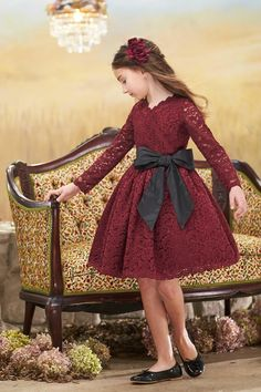 """""""Shop Chasing Fireflies for our Girls Holiday Lace Dress. Browse our online catalog for the best in unique children's costumes, clothing and more. Little Girl Dresses, Girls Dresses, Flower Girl Dresses, Baby Dresses, Dresses Dresses, Dance Dresses, Baby Dress Design, Frock Design, 10 Years Girl"""