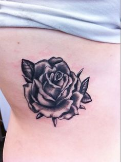 Simple Black And White Rose Tattoo Images & Pictures - Becuo