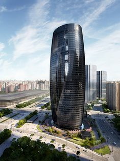 Leeza-Soho Tower, Designed by Zaha Hadid Architects. Visually performed by Cosmoscube Studio. Hotel Architecture, Cultural Architecture, Landscape Architecture Design, Futuristic Architecture, Concept Architecture, Amazing Architecture, Chinese Architecture, Contemporary Architecture, Zaha Hadid Architects