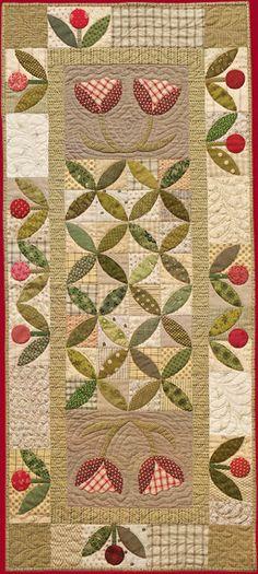 Primitive Folk Art Quilt Pattern - Spring Blooms