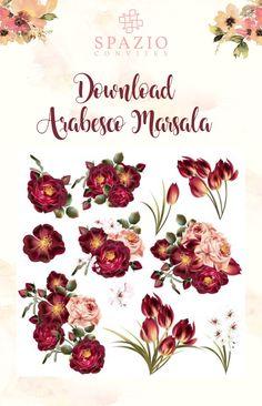 Arabesco marsala floral para convites de casamento, madrinhas com vestido marsala, Manual dos padrinhos.