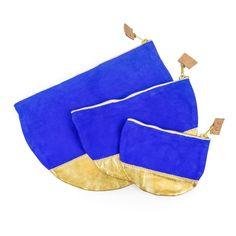 Dazzling Blue & Gold Moon Clutches | Sseko Designs