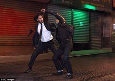 Keanu Reeves sur le tournage de John Wick 2