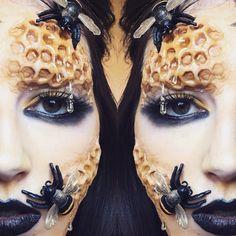 Halloween makeup inspiration Queen bee makeup @tangledandteasedhair