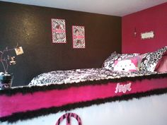 This is our tween daughter's bedroom makeover we did as a birthday surprise for her!