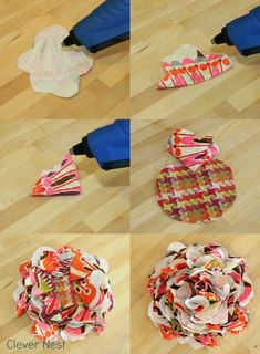 easy- and forgiving!! fabric flower how to. can't go wrong #mothers day #rose #fabric craft #diy