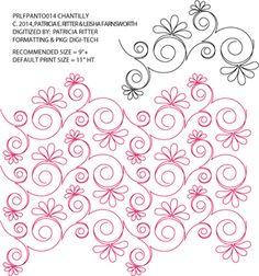 Chantilly Pantograph by Patricia Ritter and Leisha Farnsworth PRLFPANTO014