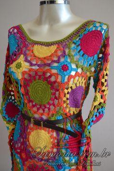 Vestido Coloré Conheçam meu site: http://www.samanta.com.br/ e minha fanpage: https://www.facebook.com/feiticeiradasagulhas