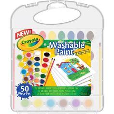 Conheça o divertido Kit de Tintas Laváveis Washable Paint Crayola. Com ele as crianças poderão ter horas de muita diversão,  usando as tintas e os pincéis para expressarem toda sua criatividade e imaginação.    O Kit vem com 16 tintas aquarela de 2 g cada, 12 tintas guache com 4,8 ml cada, 2 pinceis e 20 folhas em branco. Com este divertido Kit a garotada poderá desenvolver seu potencial artístico e coordenação motora, com muita alegria e diversão.