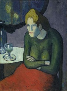 Picasso, Buveuse d'absinthe ~Repinned Via Lex Hamers