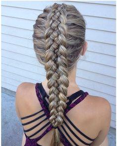 five strand Dutch braid