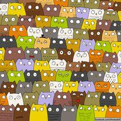 Onde está o gato em meio às corujas? - Yahoo Notícias
