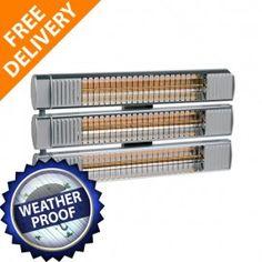 BURDA TERM TRIPLE  -Instant Directed Heat -Warming Glow -Large Heating Span http://www.infraredheatersdirect.co.uk/burda-term-2000-ip67-triple-infrared-patio-heater