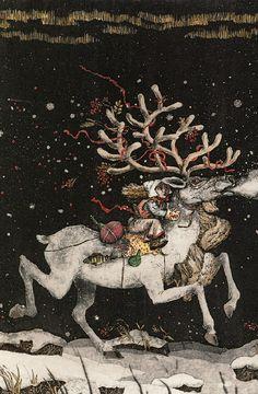 Illustration to Hans Christian Andersen's 'The Snow Queen'. Boris Diodorov