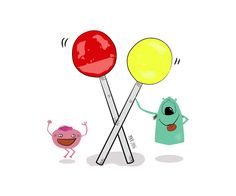 Tombu and Albu find their happiness in lollipops. They wish may you find your happiness on something simple to! ;)