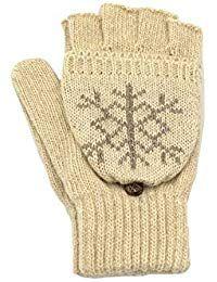 Combinaci/ón manoplas//guantes de dedos cortos Sombreroshop Mitones unisex de vell/ón Guantes de vell/ón para oto/ño//invierno Guantes de invierno convertibles para mujer//hombre