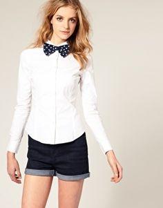 ASOS Spotty Bow Tie Shirt - StyleSays