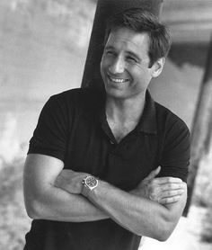 David Duchovny - no matter how old he gets, I will always see him as hot Mulder in my mind, like this.