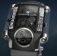 Magnetic levitation?  Pushing the outer limits of watchmaking here...the legendary Christophe Claret.  More at...