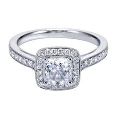 Stunning Diamond Engagement Ring By Polenza @ Kranich's Jewelers.