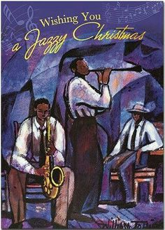 William Tolliver Solid-Faced Canvas Print Wall Art Print entitled Jammin, None Holiday Greeting Cards, Christmas Cards, Merry Christmas, Christmas Ideas, Christmas Scenes, Christmas Quotes, Christmas Greetings, Christmas Time, Black Christmas