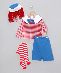 Take a look at this Red Rag Doll Dress-Up Set - Toddler & Boys by Dress Up America on #zulily today!